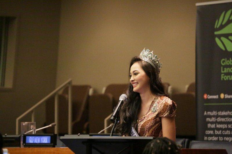 Di PBB, Puteri Indonesia bicara upaya penyelamatan bumi