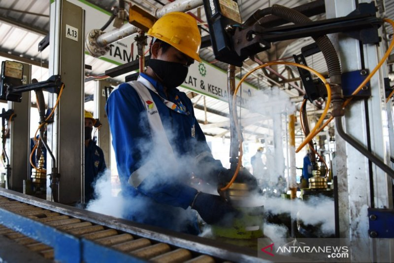 Produksi LPG 3 kg Makassar