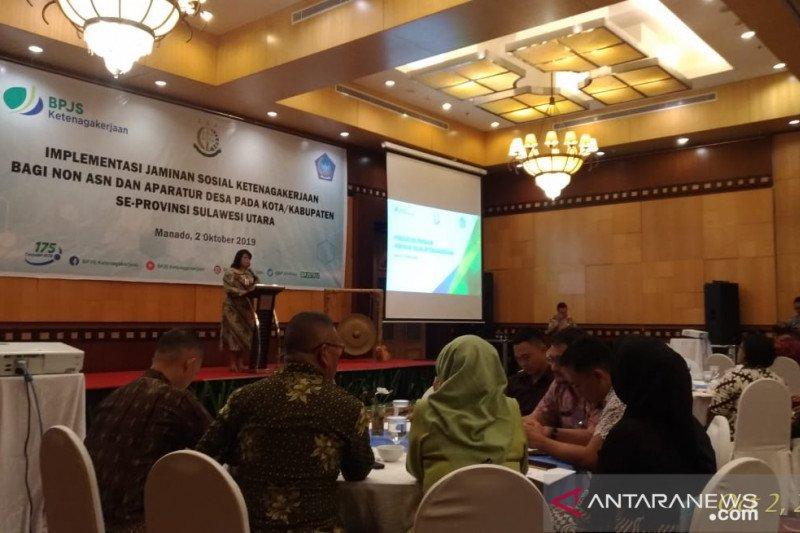 Sulawesi Utara target 2020 kabupaten/kota daftarkan aparatur desa ke BPJS-TK