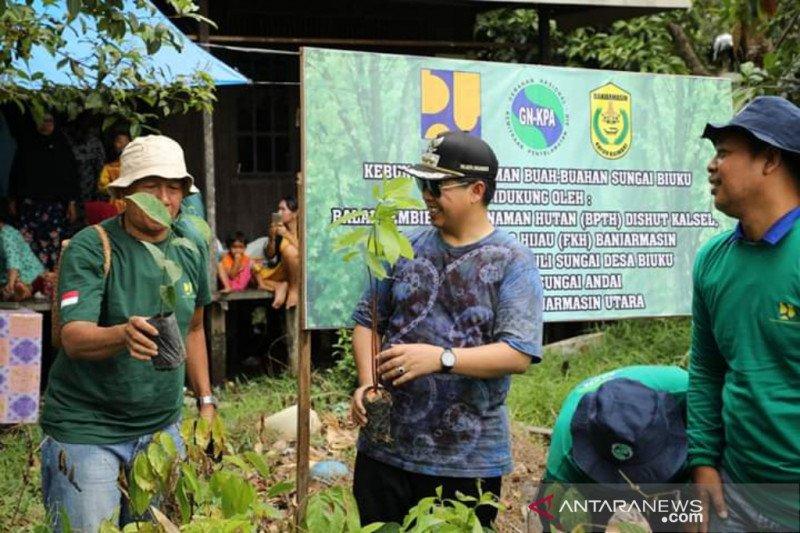 Wisata baru Kampung Sungai Biuku di Banjarmasin dihijaukan