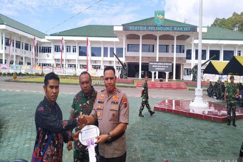 Kodam XVII Cenderawasih peringati HUT Ke-74 TNI secara sederhana