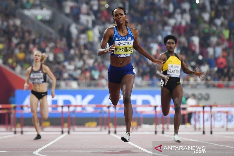 Muhammad raih emas lari gawang 400m  putri dan rekor dunia