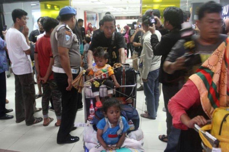 Pengungsi perantau Minang dari Wamena