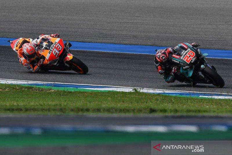 Hasil GP Thailand, duel sengit Marquez dan Quartarora