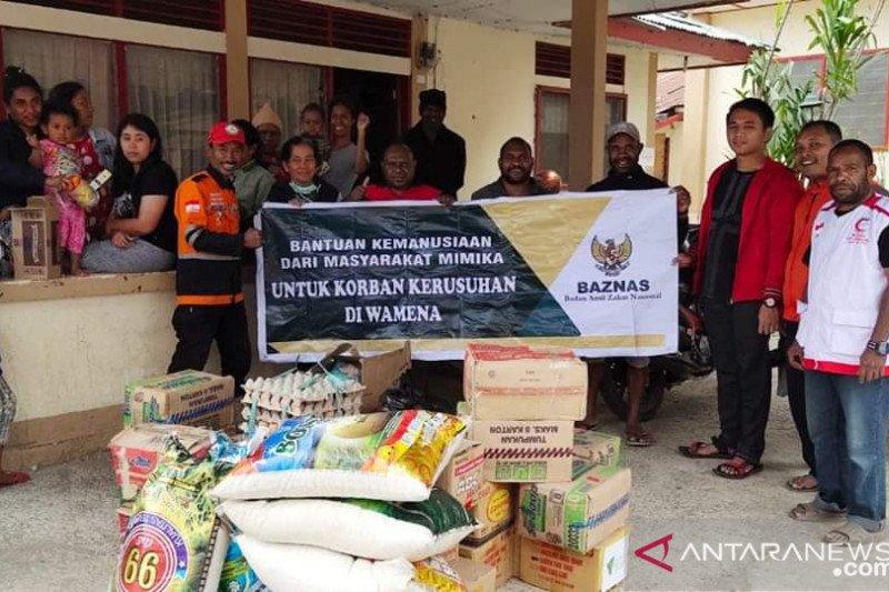 Bantuan Baznas Mimika sudah disalurkan ke pengungsi di Wamena