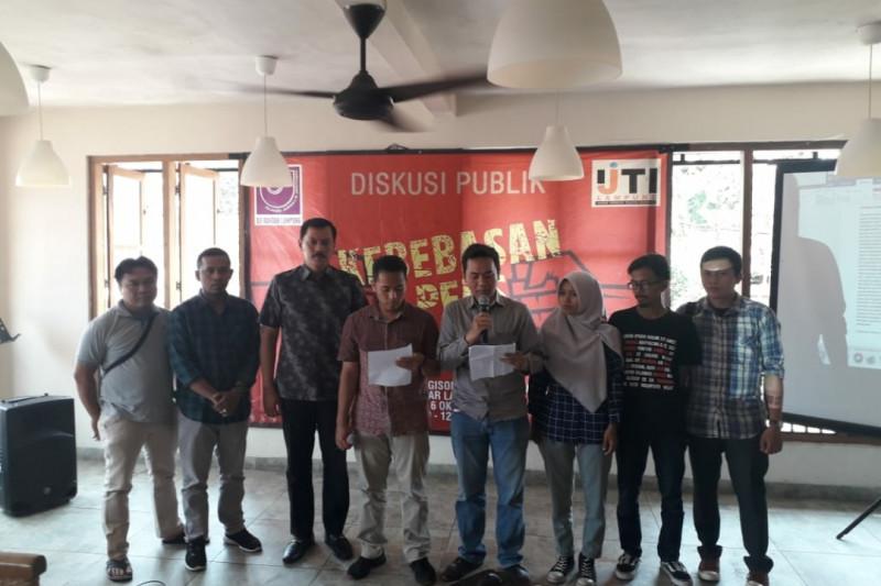 AJI dan IJTI Lampung kecam tindakan kekerasan kepada wartawan