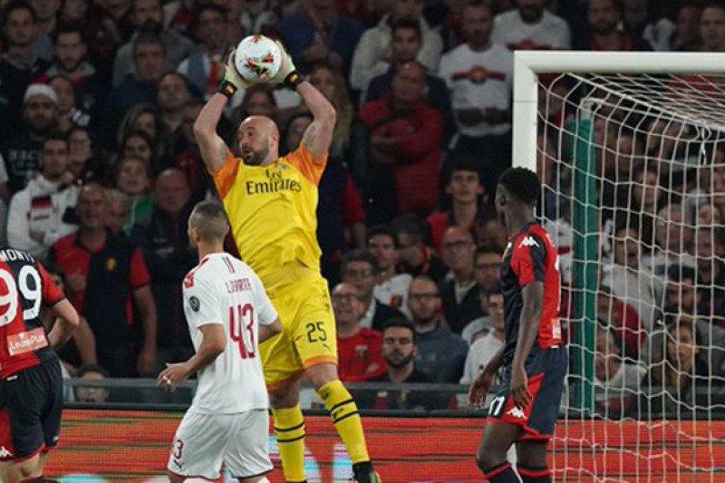 Reina jadi pahlawan saat Milan tundukkan Genoa