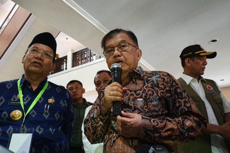 Wapres Jusuf Kalla instruksikan dana stimulan Palu turun segera