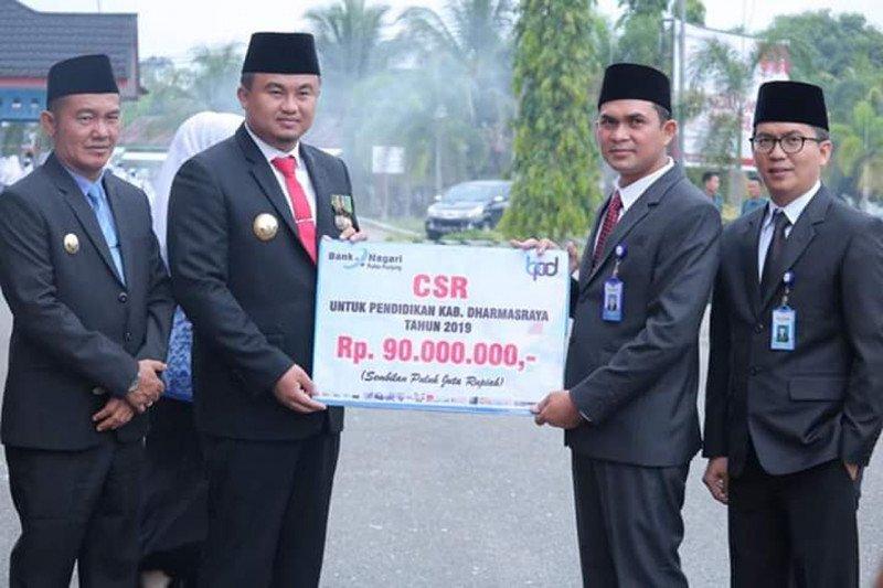 Bank Nagari Pulau Punjung salurkan CSR Rp90 Juta