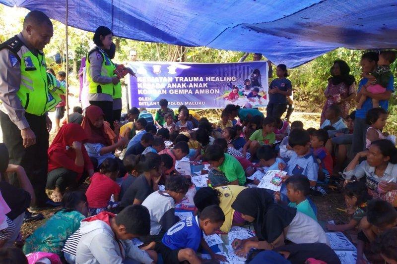 Polda Maluku salurkan bantuan untuk korban gempa bumi