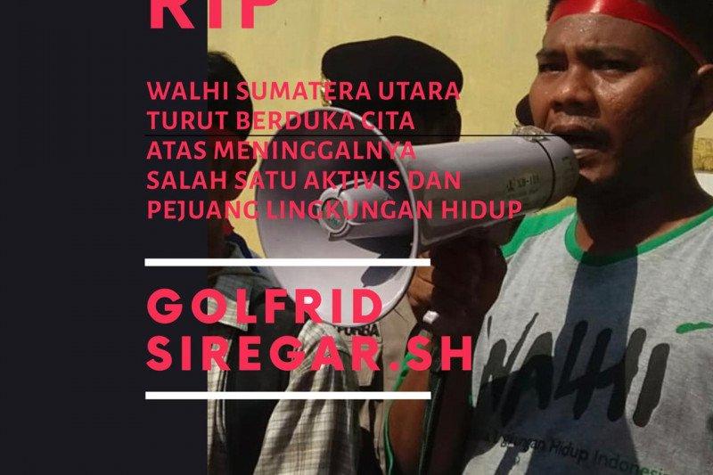 Aktivis Walhi Sumut Golfrid Siregar meninggal dunia setelah dikabarkan hilang