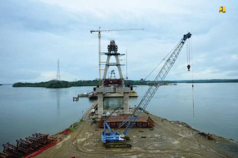 Jembatan Balang II di Kaltim selesai tahun 2020