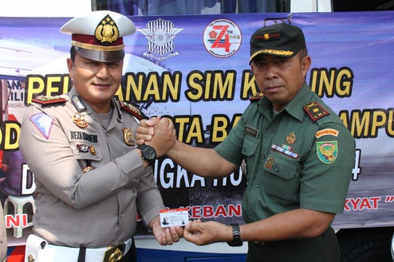 Polresta buka pelayanan SIM di Kodim 0410/ Bandarlampung