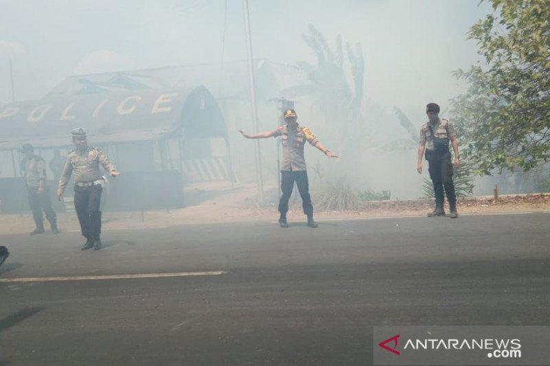 Kebakaran hebat  di Jalintim Mesuji Lampung