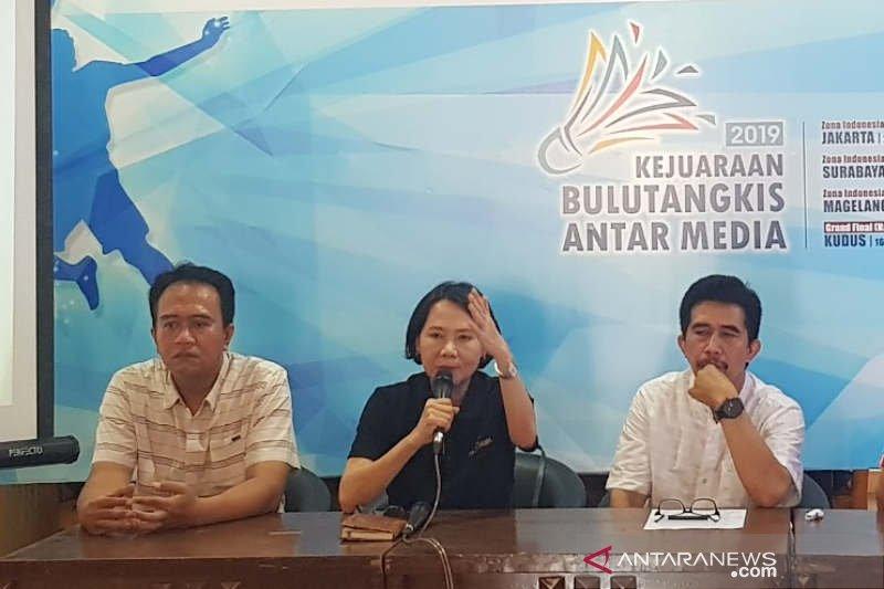 Peserta Kejuaraan Bulu Tangkis Antarmedia 2019 turun