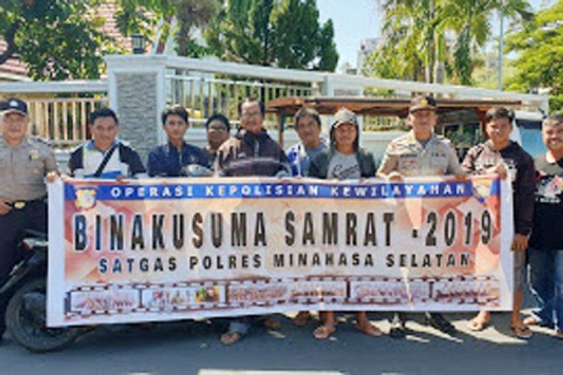 Polres Minsel gelar Operasi Bina Kusuma sampaikan pesan Kamtibmas