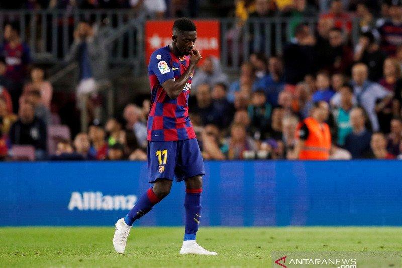Ousmane Dembele dipastikan absen pada El Clasico