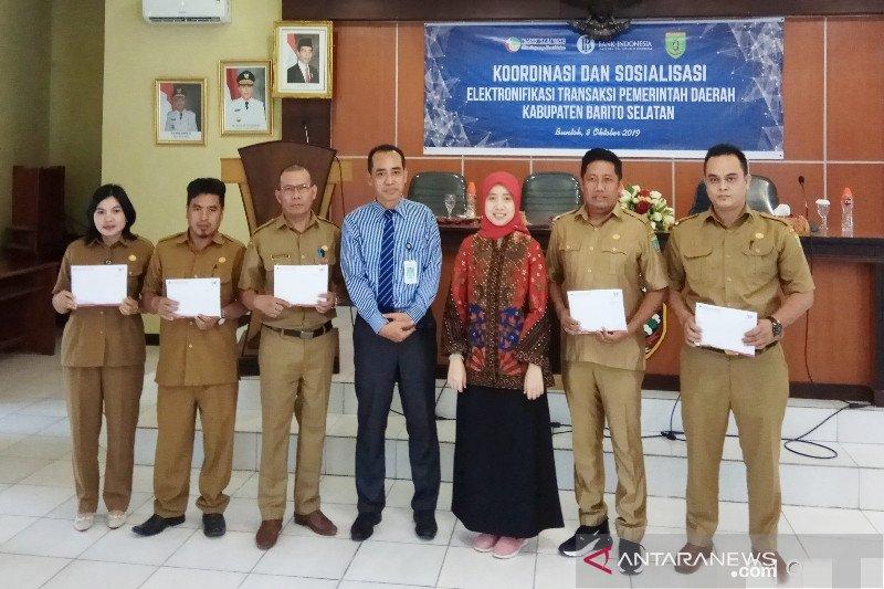 Bank Indonesia dorong transaksi nontunai Pemkab Barito Selatan