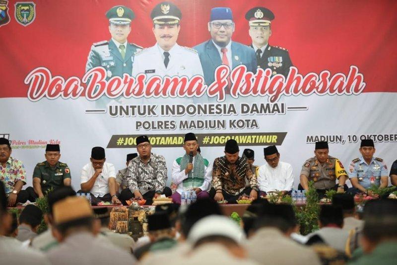 Polres Madiun Kota gelar doa bersama untuk Indonesia damai