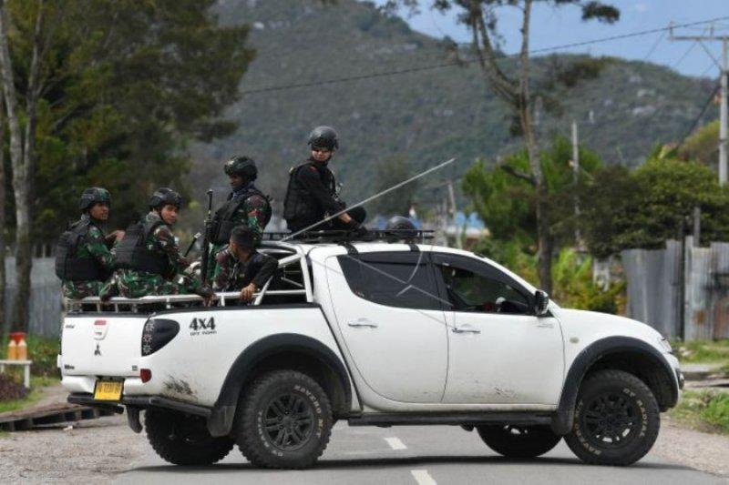 Patroli keamanan di Wamena