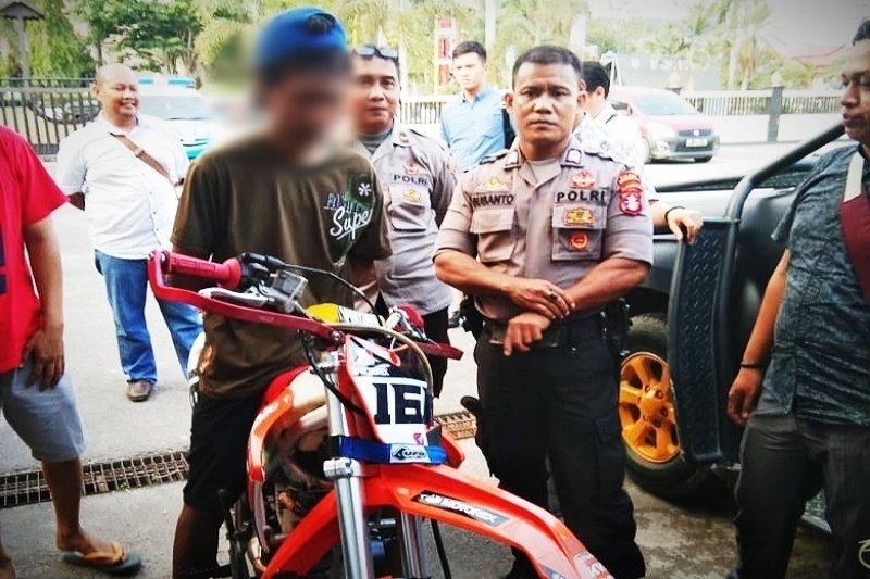 Mencuri motor di Kobar, tersangka ini ditangkap di Sampit