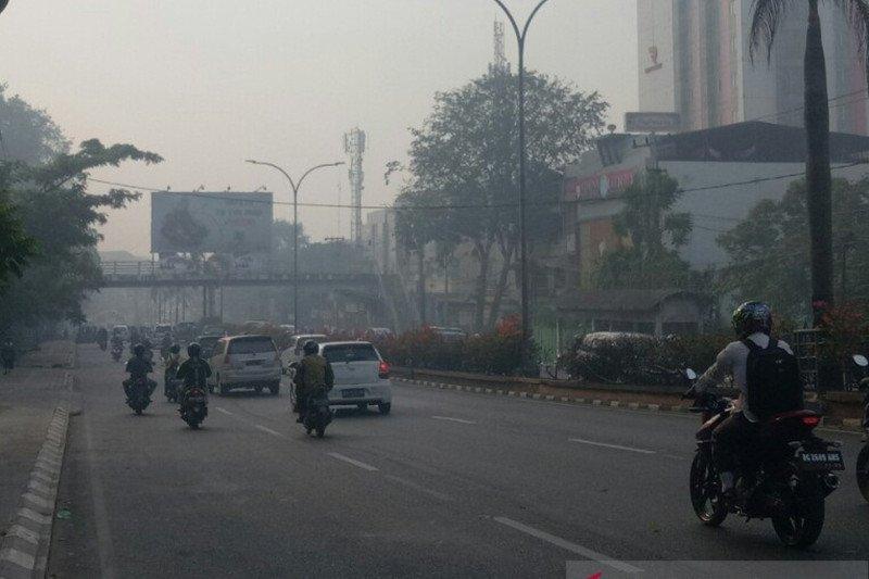 Kualitas udara di Kota Palembang  kembali memburuk akibat asap