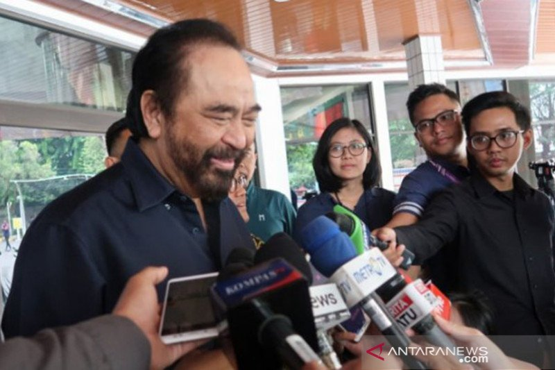 Surya Paloh anggap pertemuan Jokowi-Prabowo penuh nilai positif