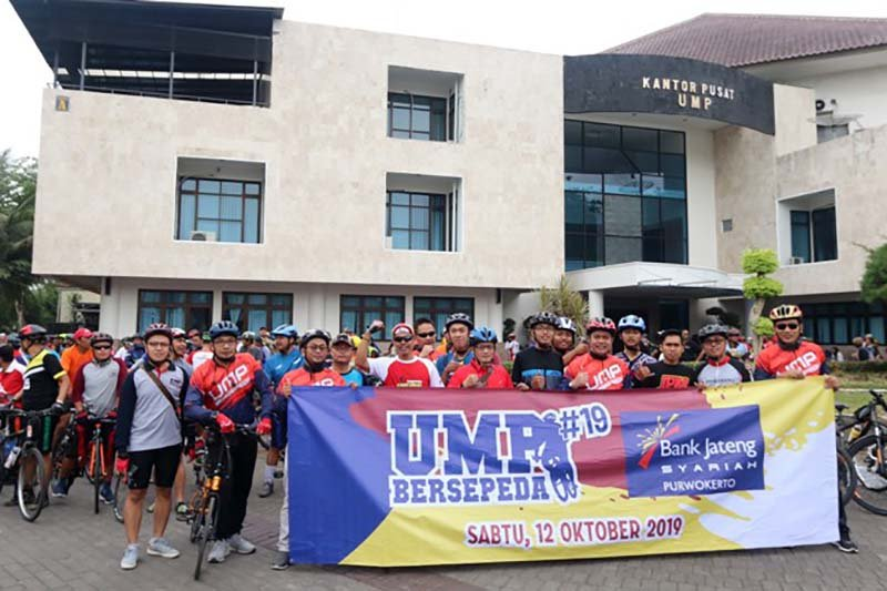 UMP-Bank Jateng Syariah gelar kegiatan bersepeda bersama