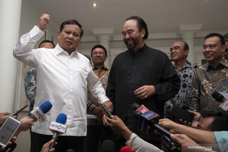 Pertemuan Prabowo Subianto dan Surya Paloh