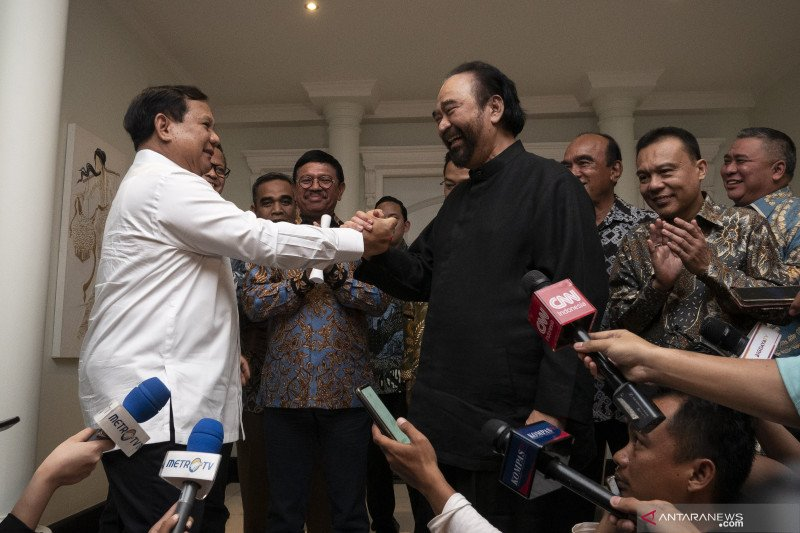 Pertemuan Prabowo-Paloh hasilkan tiga kesepakatan