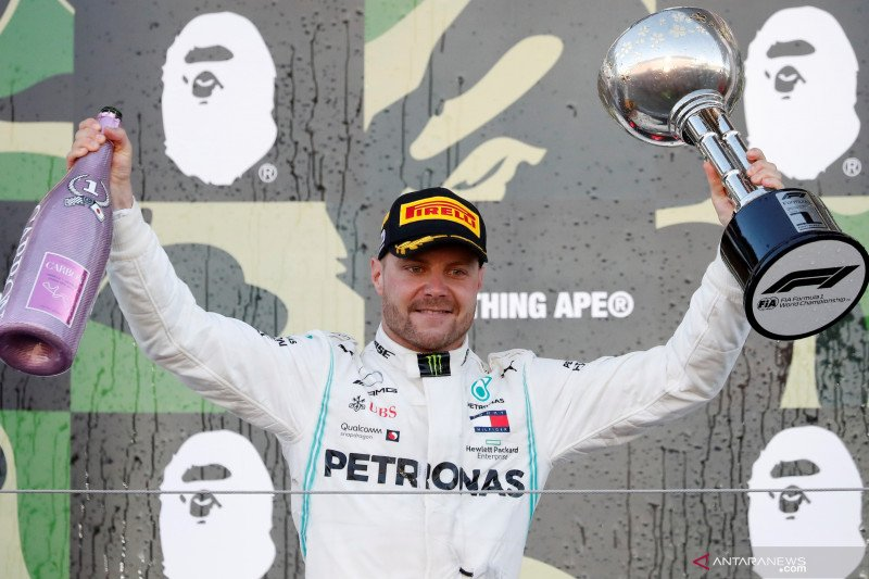 Valtteri Bottas juara GP Jepang, Mercedes kunci gelar juara konstruktor