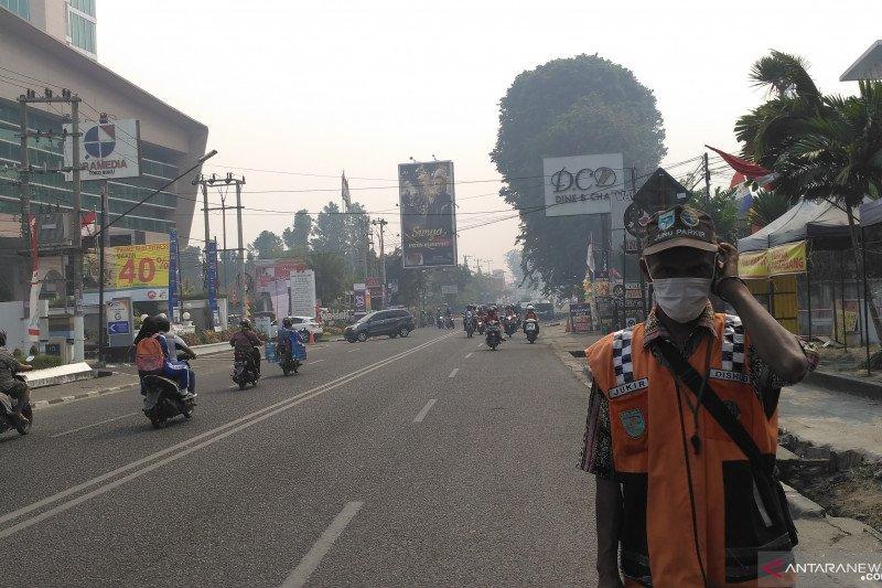 Kabut asap di Kota Jambi kiriman dari Sumsel