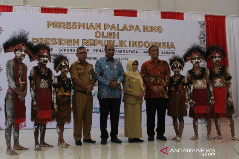 Papua Barat saksikan peresmian palapa ring melalui video conference