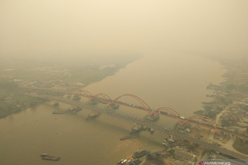 Kualitas udara Palembang pada level berbahaya