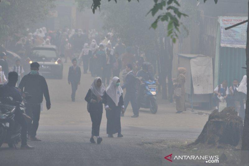 Siswa Sekolah di Palembang diliburkan karena kabut asap