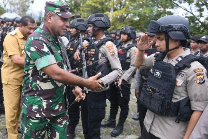 Apel gabungan TNI-Polri di Wamena