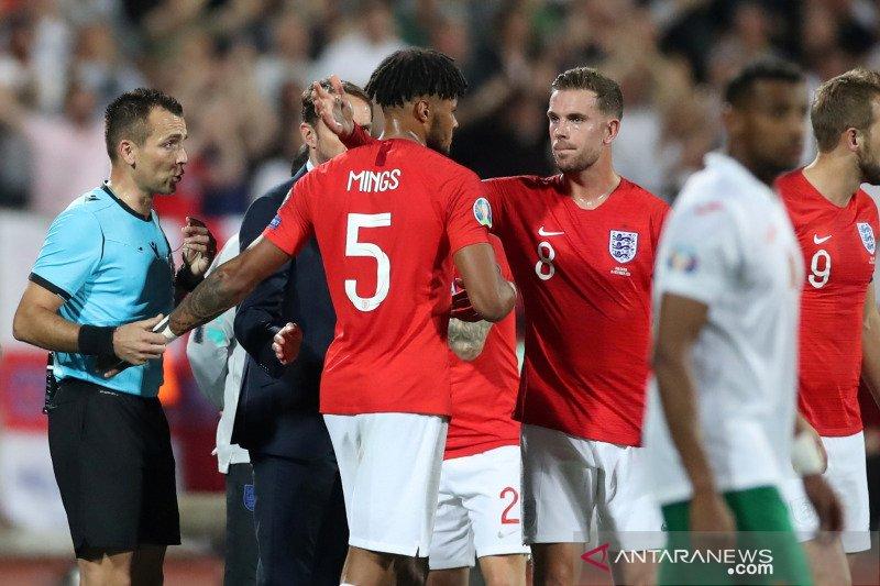 Ada teriakan rasisme, pertandingan Bulgaria lawan Inggris dihentikan dua kali