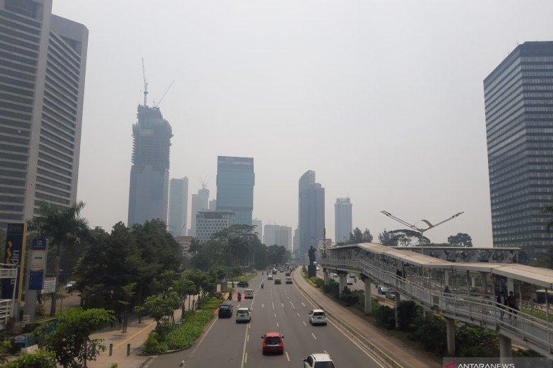 Kualitas udara Palembang dinyatakan BMKG pada level berbahaya