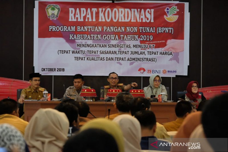 Penyaluran BPNT Kabupaten Gowa diharapkan patuhi 6T