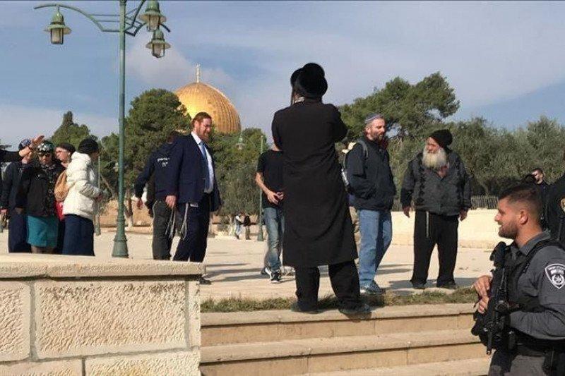 Pemukim Yahudi serbu Masjid Al-Aqsha untuk rayakan Sukkot
