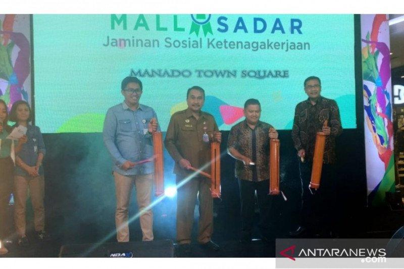 BPJSTK Manado melakukan ekspansi layanan mall sadar jaminan sosial