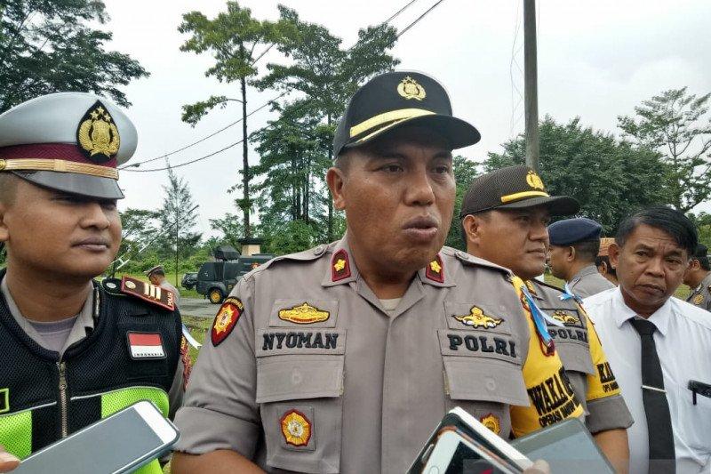 Polisi pulangkan lima warga yang diamankan saat razia di markas KNPB Timika