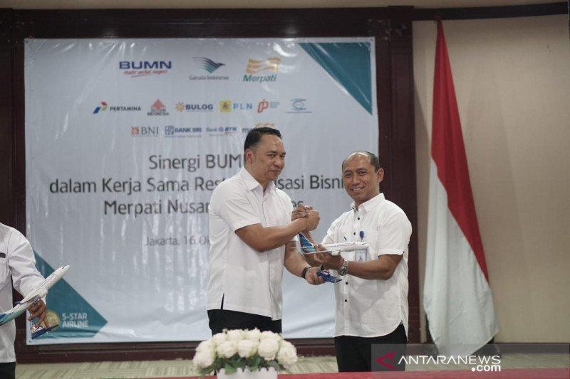 Garuda dan sembilan BUMN restrukturisasi bisnis Merpati Airlines