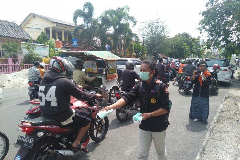 JPRMI Ogan Komering Ulu  bagikan 500 masker gratis