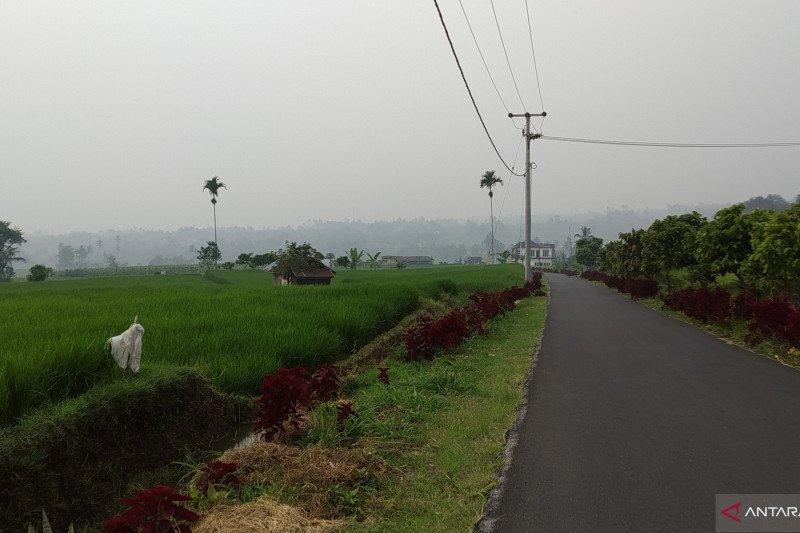 Di Tanah Datar, warga mulai merasakan mata perih akibat kabut asap