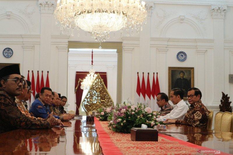 MPR temui Presiden Jokowi bahas persiapan pelantikan