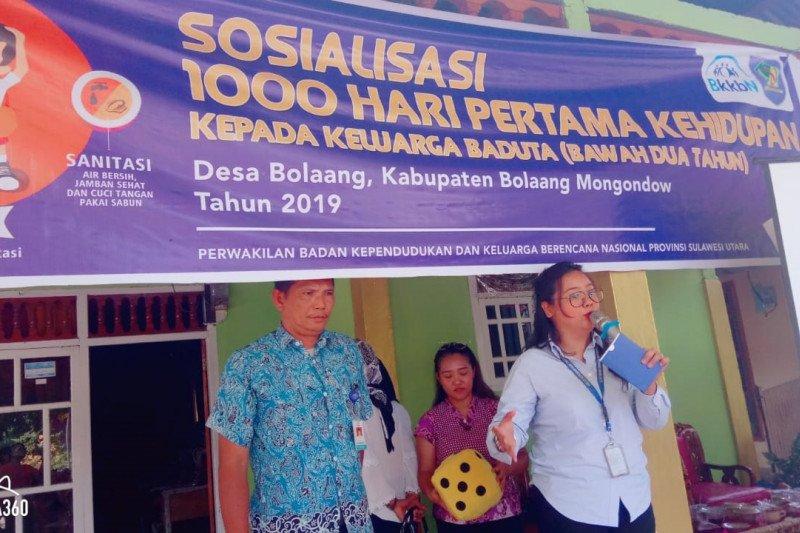 BKKBN Sulut  intensif kampanye 1.000 hari pertama cegah kekerdilan