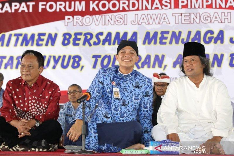 Ganjar mengajak masyarakat jaga Indonesia saat pelantikan presiden