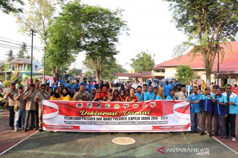 Warga Lingga deklarasi menolak aksi anarkis pelantikan Jokowi-Ma'ruf