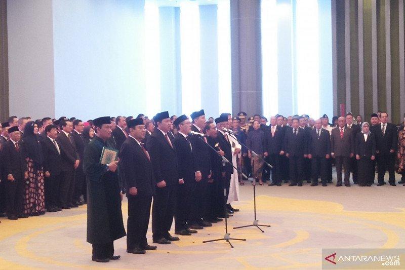 Lima anggota BPK periode 2019-2024 ucapkan sumpah jabatan